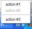 Tray icon context (right-click) menu
