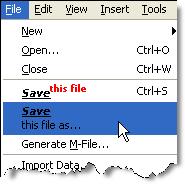 Figure main menu modified with HTML items