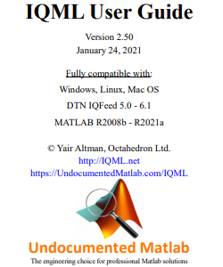 IQML: Matlab connector to IQFeed | Undocumented Matlab
