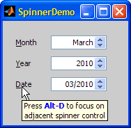 My Matlab SpinnerDemo
