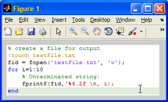 SyntaxTextPane panel (Matlab MIME type)