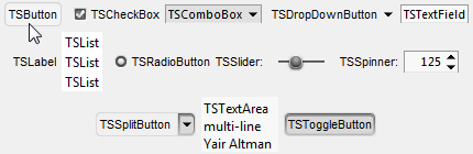 Toolstrip controls