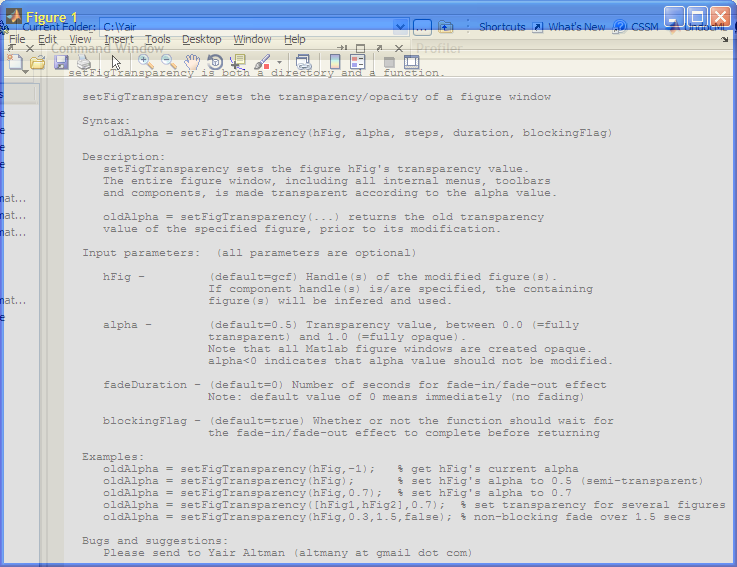 Semi-transparent (translucent) Matlab figure (click to enlarge)