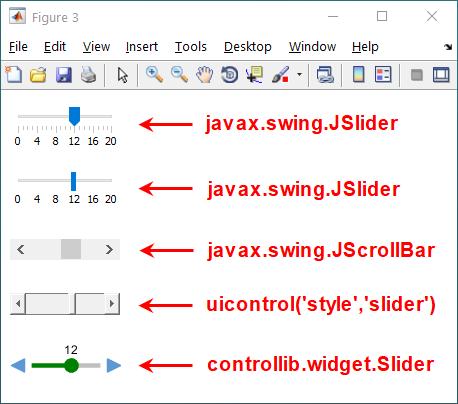 Slider alternatives in Matlab GUI