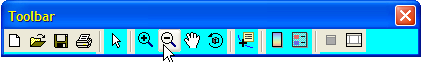 Default figure toolbar with cyan background